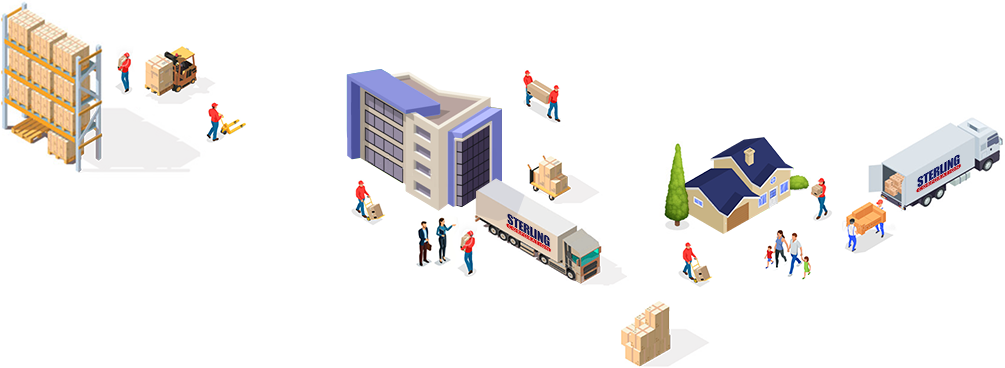 Sterling's logistics and commercial and residential moving services